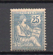 - FRANCE N° 127 Neuf ** MNH - 25 C. Bleu Type Mouchon Retouché 1902 - Cote 500 EUR - - 1900-02 Mouchon