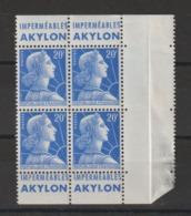 France 1011B Bloc De 4 Avec Bande Pub Akylon  ** MNH - Advertising