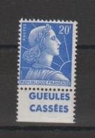 France 1011B  Avec Bande Pub Gueules Cassées  ** MNH - Publicidad