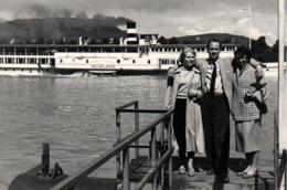 Photo Originale Bateau Touristique à Roue & Vapeur Le Vaterland & Ponton 1950/60 - Bateaux