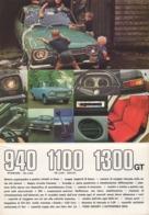 """08736 """"FORD ESCORT - 940 STANDARD / DE LUXE - 1100 DE LUXE / ESTATE - 1300 GT"""" PIEGHEV. PUBBL. ORIG. IN LINGUA ITALIANA - Pubblicitari"""