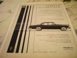 ANCIENNE PUBLICITE VOITURES VEDETTE  DE FORD 1955 - Cars