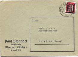 221 - 65 - Enveloppe Envoyée De Meerane à Lauter - Zone Anglo-Américaine