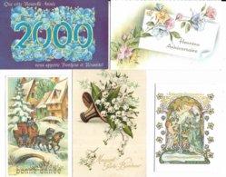Lot De 100 Cartes Diverses Et Différentes De Nouvel An. Voir Les Scans - Año Nuevo