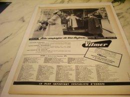 ANCIENNE   PUBLICITE GABARDINES VILMER   1955 - Vintage Clothes & Linen