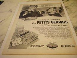 ANCIENNE PUBLICITE VOTRE SANTE ET BEAUTE FROMAGE FRAIS DE GERVAIS  1955 - Posters