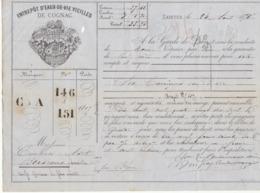 Lettre De Voiture Coutanceaux Aîné Saintes Charente 6 Barriques Eau De Vie 1875 -> Bordeaux - Verkehr & Transport