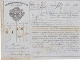 Lettre De Voiture Coutanceaux Aîné Saintes Charente 10 Barriques Eau De Vie Cognac 1875 -> Bordeaux - Verkehr & Transport