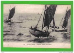 Carte Postale 59. Dunkerque  Bateaux Pêchant La Crevette Trés Beau Plan - Dunkerque