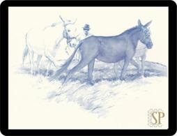 Reproduction D'une Aquarelleles Les Chevaux Reproduction Watercolor Horse Reproduktion Aquarells Pferde Cavalli Paarden - Aquarelles