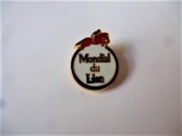 PINS  SPORT EQUITATION MONDIAL DU LION / Signé Martineau Saumur / Base Dorée / 33NAT - Badges