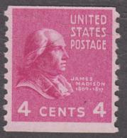 USA 1939. Scott 843. Rotary Press Coil 4c James Madison. Perf 10 Vertically. MNH - Etats-Unis