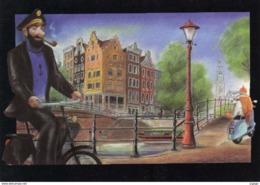 WEEK-END  Tintin Et Milou En Scooter Et Le Capitaine Haddock En Vélo.  TBE - Comics