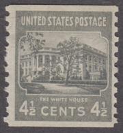 USA 1939. Scott 844. Rotary Press Coil 4½ The White House. Perf 10 Vertically. MNH - Etats-Unis
