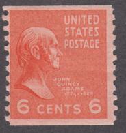 USA 1939. Scott 846. Rotary Press Coil 6c John Quincy Adams. Perf 10 Vertically. MNH - Etats-Unis