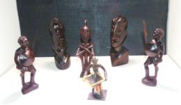 Lots De Statuettes Africaines - Afrikanische Kunst