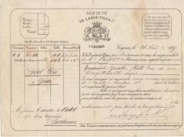 Lettre De Voiture De Laâge Fils & Co, Cognac, Charente, Eau De Vie 1867 -> Bordeaux - Verkehr & Transport