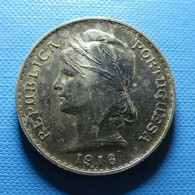 Portugal 50 Centavos 1916 Silver - Portugal