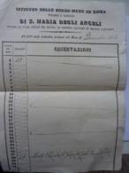 """Documento """"ISTITUTO DELLE SORDO MUTE IN ROMA  - STATO DELLE  INDIVIDUE ESISTENTI NEL MESE DI DICEMBRE 1862"""" - Documenti Storici"""