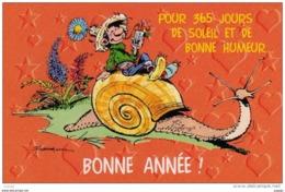 FRANQUIN Gaston Lagaffe Pour 365 Jours De Soleil Et De BONNE HUMEUR.....2 Scans - Comics