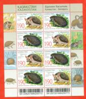 Kazakhstan 2011.Small Sheet. Hedgehogs.Joint Issue Of Kazakhstan And Belarus. - Kazakhstan