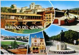 BASSANO DEL GRAPPA  VICENZA   Vedutine  Ponte Alpini Monumenti Orologio Stadio Stadium Stade - Vicenza