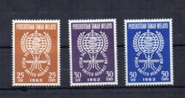 Gran Bretagna - (Vecchie Colonie E Protettorati MALESIA) - 1962 - 3 Valori - Nuovi - * - (FDC17482) - Malayan Postal Union