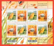 Kazakhstan 2010.Small Sheet. Birds.Joint Issue Of Kazakhstan And Azerbaijan. - Flamingo
