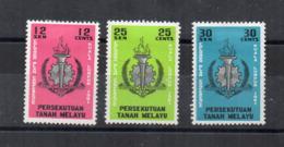 Gran Bretagna - (Vecchie Colonie E Protettorati MALESIA) - 1961 - 3 Valori - Nuovi - * - (FDC17483) - Malayan Postal Union