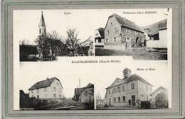 CPA - ALGOLSHEIM (68) - Carte Multivues Des Années 20 - Restaurant Rebert , Eglise, Mairie-Ecole ... - Other Municipalities