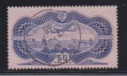 FRANCE - P.A. 15. 50 Frs Burelé Oblitéré. TB. Cote 400€. Certificat D'expert. - 1927-1959 Oblitérés