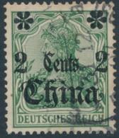 Chine German Office – 2 Cents - Used - Gebruikt