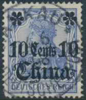 Chine German Office – 10 Cents - Used Hankau - Used Stamps