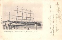 59-DUNKERQUE- ENTREE DU 5 MATS- FRANCE - ET LE PHARE - Dunkerque