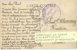 GUERRE 14-18 COMPAGNIES DE GARDE D'ALBERTVILLE * DÉTACHEMENT DE TARENTAISE  - TàD BOURG ST MAURICE HAUTE-SAVOIE 8-12-15 - Guerra De 1914-18