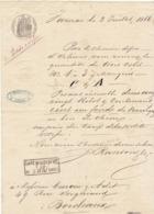 Lettre De Voiture Ranson Jarnac Charente Fonds De Barriques 1866-> Bordeaux - Verkehr & Transport