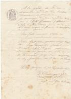 Lettre De Voiture Duberger St Genis En Saintonge Charente Eau De Vie 1872 -> Bordeaux - Verkehr & Transport