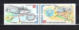 Nlle CALEDONIE  PA N° 345 + 346  NEUFS SANS CHARNIERE  COTE 5.00€   LIAISON AERIENNE - Luftpost