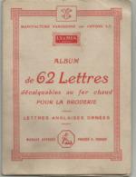 MANUFACTURE PARISIENNE DES COTONS : ALBUM DE LETTRES DECALCABLES - Vintage Clothes & Linen