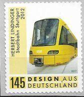 2018  Deutschland Allem. Fed.Mi. 3363**MNH  Folienstamp    Stadtbahn Stuttgart Von Herbert Lindinger - Unused Stamps