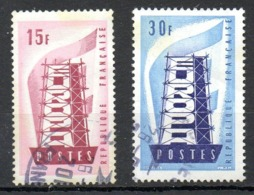 FRANCE. N°1076-7 Oblitérés De 1956. Europa'56. - Europa-CEPT