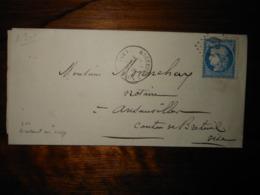 Lettre GC 614 Breteuil Sur Noye Oise Avec Correspondance - 1849-1876: Période Classique