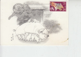 STATI UNITI 1994 - FDC -  Yvert 2221 - Maiale - Farm