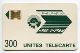 Telecarte °_ Djibouti-300 Unités-vert Foncé-Sc4an- R/V 8717 Impact ° LUXE - Djibouti