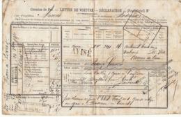 Lettre De Voiture Anvers -> Bordeaux Une Caisse 36 Revolvers (armes De Luxe) 1871 - Verkehr & Transport