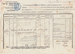 Connaissement Cie Maritime Valéry Frères & Fils Marseille Absinthe -> Bordeaux 1878 - Verkehr & Transport