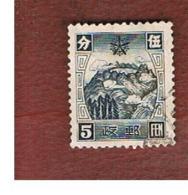 CINA MANCIURIA (CHINA MANCHUKUO) - SG  67   - 1935  MOUNTAINS & SACRED LAKE -  USED - 1932-45 Manchuria (Manchukuo)
