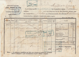 Connaissement Cie Maritime Valéry Frères & Fils Marseille Absinthe -> Bordeaux 1875 - Verkehr & Transport