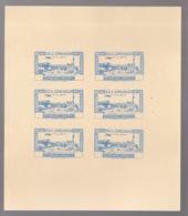 Grand Liban - 1944 - PA N°Yv. 82 - Congrès Médical - Bloc De 6 Essais Bleu Sans Valeur - Non Dentelé / Imperf. - Gross-Libanon (1924-1945)
