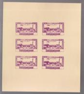 Grand Liban - 1944 - PA N°Yv. 82 - Congrès Médical - Bloc De 6 Essais Grenat Sans Valeur - Non Dentelé / Imperf. - Gross-Libanon (1924-1945)